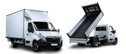 Movano Conversions - box van, tipper