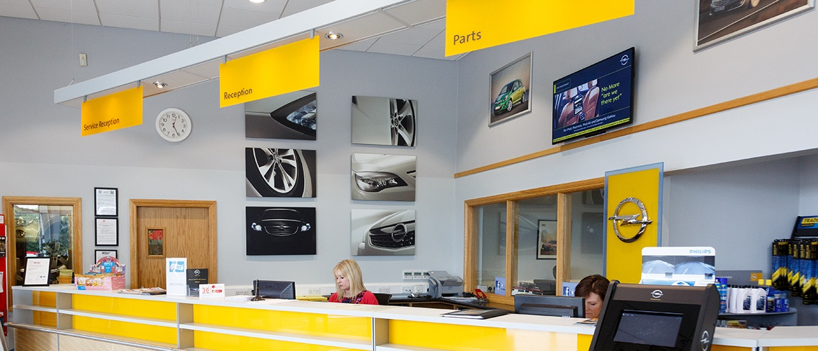 Greenhall Motors reception