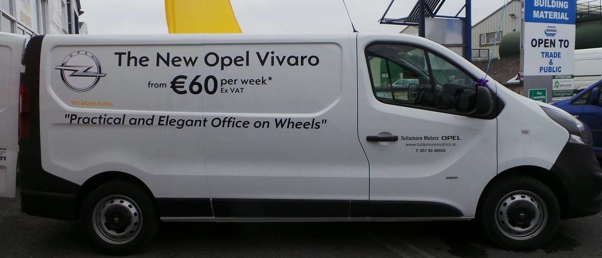 Opel Vivaro from stock, white
