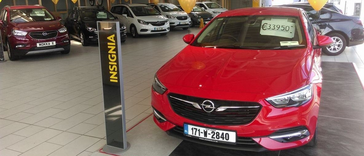 New Opel Insignia, red, John Kelly's showroom